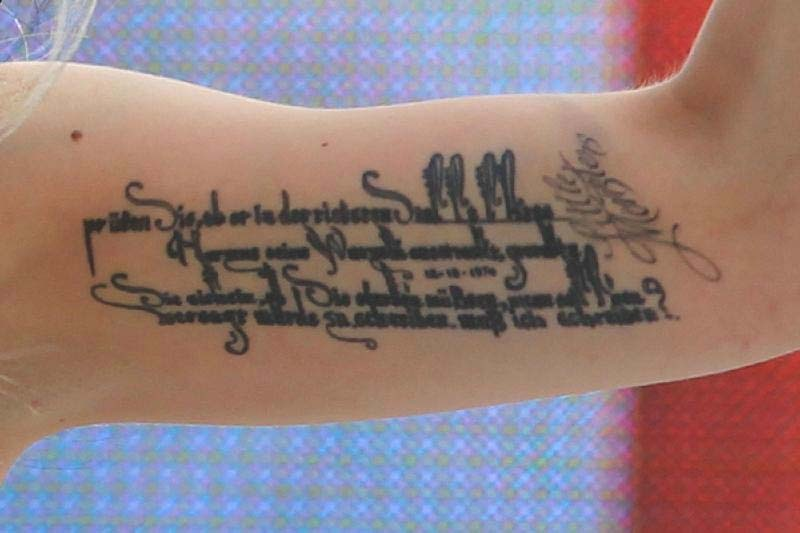 Lady Gagas Rilke-Tattoo