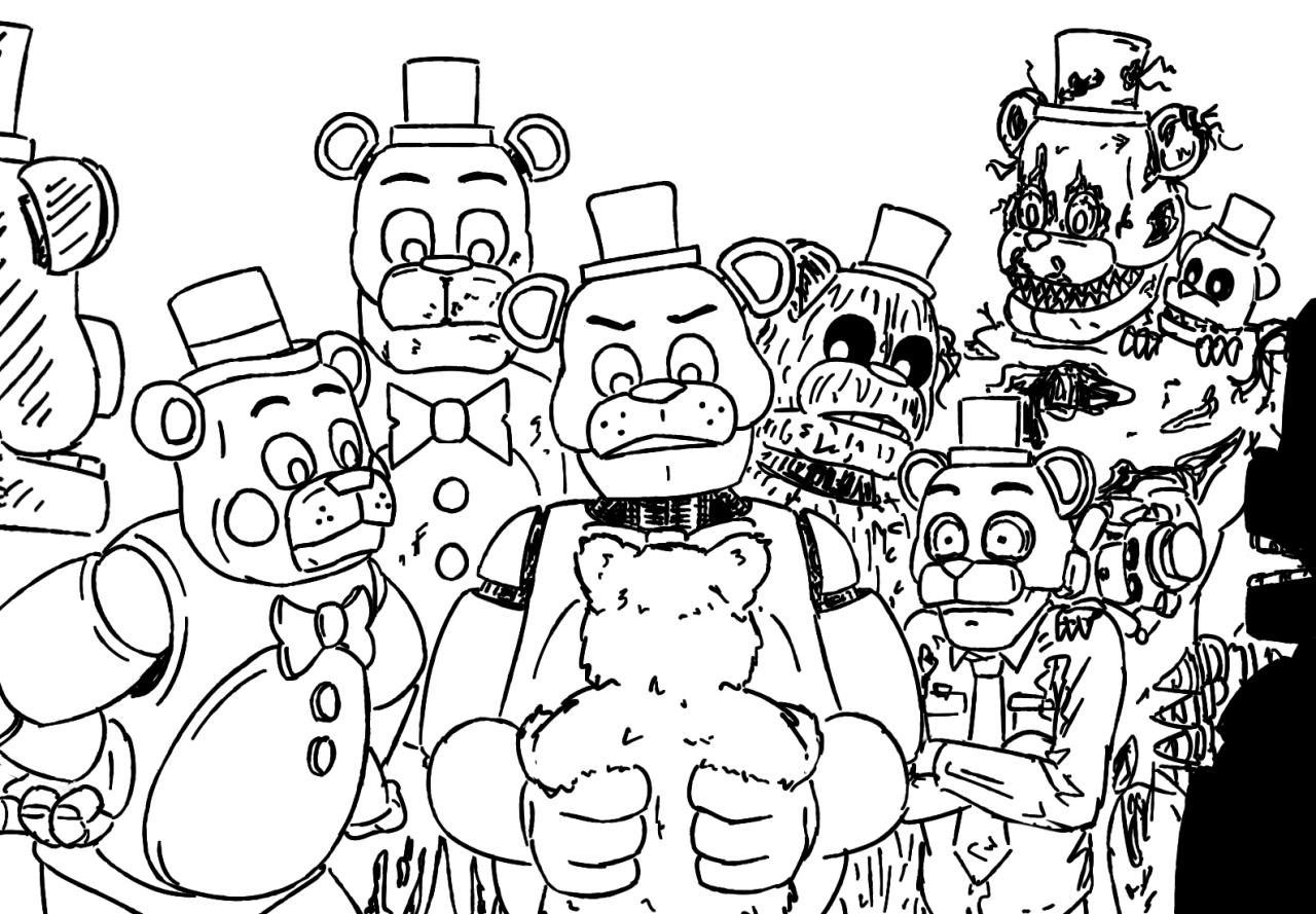 A Dumping Ground for Shitty Drawings — Bear animatronics