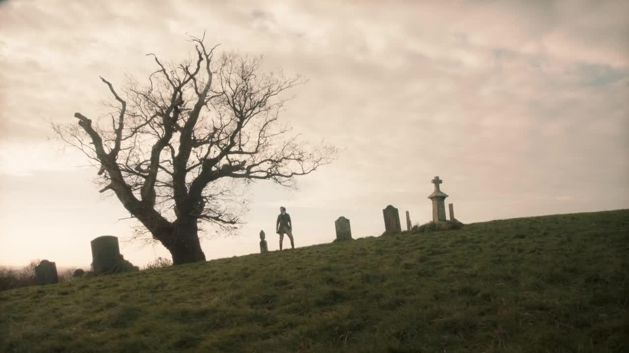 Jonathan Strange stands nobly upon the hillside