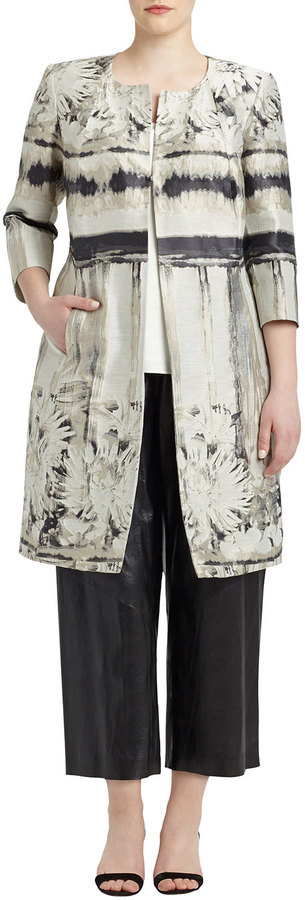 Lafayette 148 New York Louanna 3/4-Sleeve Floral Jacquard Topper Jacket, Women's by Lafayette 148 New York