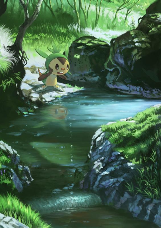 Cute Cat Gif Wallpaper Pokemon Cute Anime Kawaii Landscape Fanart Forest Fan Art