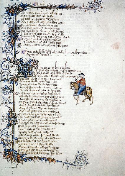 Canterbury Tales: Ellesmere Manuscript page