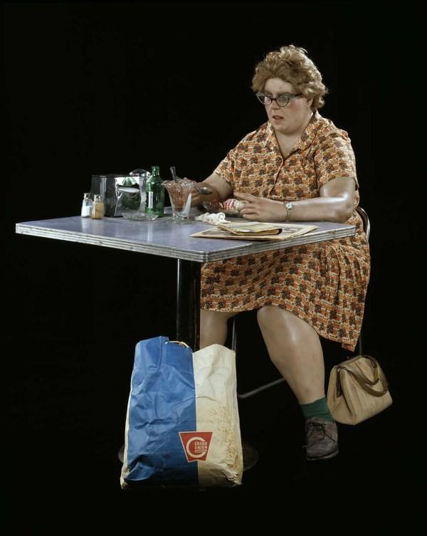 Woman Eating Duane Hanson
