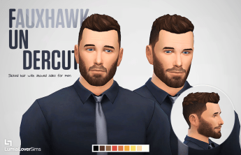 Coiffures hommes Sims 4