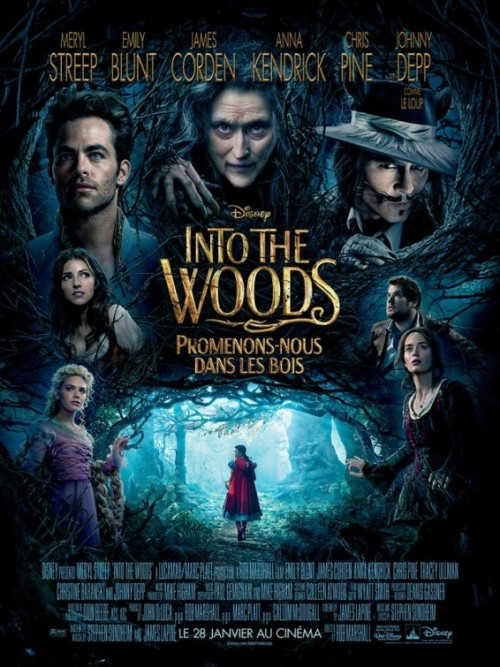 "Into The Woods Review By Miranda BoyerI was back to a normal empty theatre this evening to watch Into The Woods. If Once Upon A Time had a baby with Wicked that baby would be IntoThe Woods. It was dark yet comedic and undoubtedly start studded. The many<br /><br /><br /> fairytale stories were interconnected and it had a beautiful score. This film<br /><br /><br /> nearly crosses the threshold of Hollywood onto Broadway, intertwining classic<br /><br /><br /> fairytales including Red Riding Hood, Jack and the Beanstalk, Cinderella and<br /><br /><br /> Rapunzel. In this story, the Woods<br /><br /><br /> are a metaphor for life. Every<br /><br /><br /> character wants something they can't have. Prince Charming wants the one girl<br /><br /><br /> who ran away from him, the one girl who said no. Charming convinced himself<br /><br /><br /> that he can be faithful, if he could just be with her. The Baker and his wife<br /><br /><br /> want a child. They go on a quest and when they finally have a son, they are<br /><br /><br /> super quick to leave him in the arms of a stranger. Red Ridding Hood wants<br /><br /><br /> adventure, until she loses everything as a result. The Witch wants her youth<br /><br /><br /> but when she gets it she looses her magic and wishes her hideous self back. The<br /><br /><br /> grass is always greener on the other side. The film was beautifully sung, the costumes were<br /><br /><br /> breathtaking, and the cinematography was epic. So it bears the question, was it<br /><br /><br /> great? Not particularly. Did I enjoy it? Yes, mostly. There were moments that<br /><br /><br /> had me laughing. For example there are two princes singing about how their<br /><br /><br /> individual ""anguish"" over love is worse then anyone else's. It was over the top<br /><br /><br /> melodramatic and I was giggling through the whole song. Those three minutes<br /><br /><br /> alone were worth watching this film.  At times Into The<br /><br /><br /> Woods moved slowly. There were definitely three 'acts' like a play. I<br /><br /><br /> appreciated the last one the most, every last dark bit of it. The second was<br /><br /><br /> nearly a climatic end, however if the film had ended there, there would have<br /><br /><br /> been little point to the movie. I was relieved when it all went downhill at the<br /><br /><br /> end; suddenly there was a moral to the story. This was a beautiful film, but I wouldn't count on it keeping<br /><br /><br /> your child's attention. While it only has a PG rating, it isn't necessarily<br /><br /><br /> something I would show off to a small child, as I mentioned it gets a little<br /><br /><br /> dark. If you want to be captivated by the cinematography, go catch it in the<br /><br /><br /> theatre while you still can; if you care a little less about that sort of thing<br /><br /><br /> than red box it in a few weeks. What did you think of Into<br /><br /><br /> The Woods? Email me your comments and I'll post them below!"