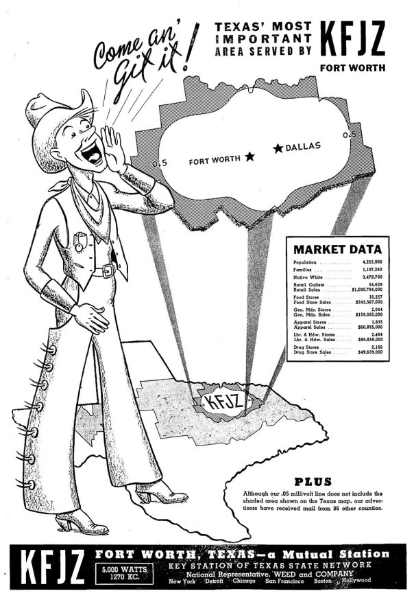 KFJZ - Fort Worth, Texas U.S.A. - 1945