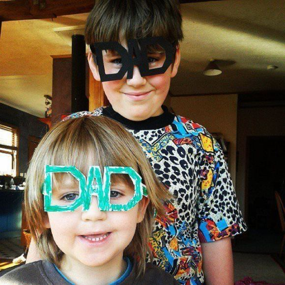 DADメガネ 装着の様子