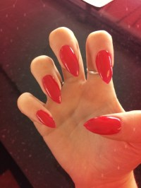 red pointy nails | Tumblr