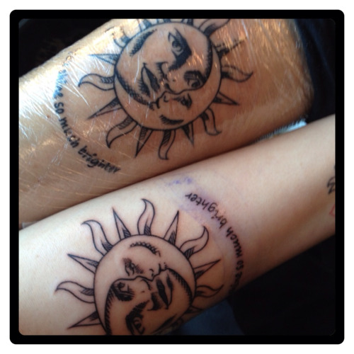 Sun And Moon Couple Tattoo