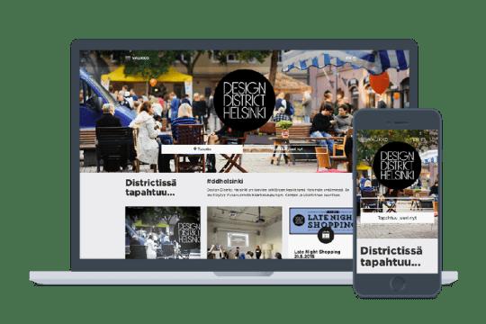 Design District Helsinki nettisivut