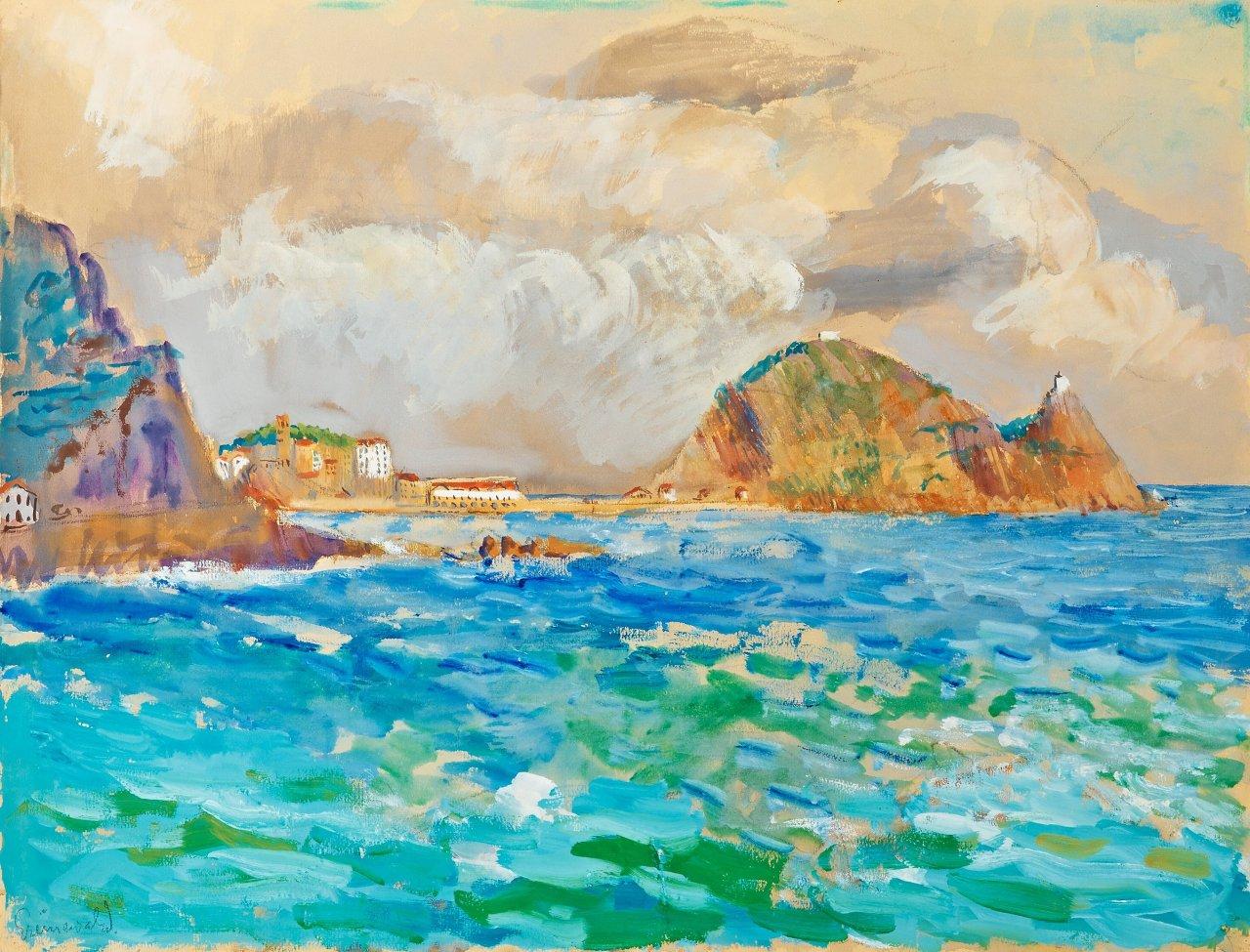 huariqueje:Approaching Storm, France.-   Isaac Grünewald Swedish 1889-1946Gouache and watercolour 49.5 x 65 cm.