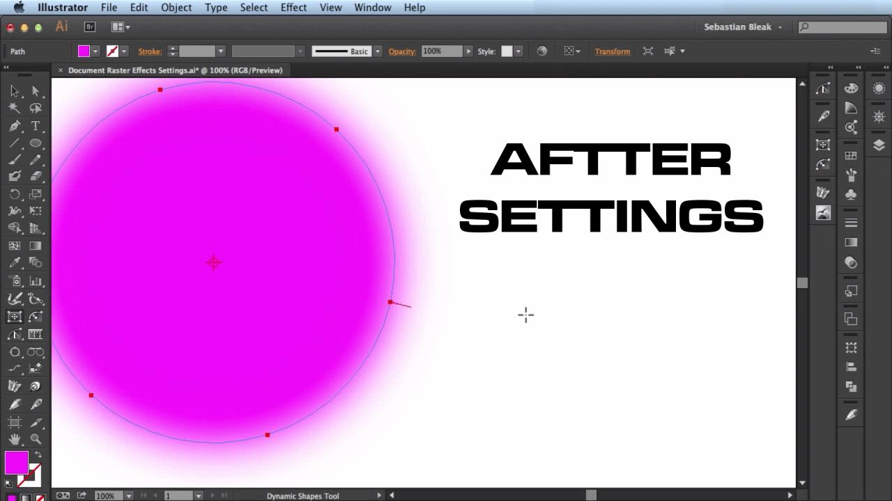 Adobe Illustrator Gausian Blur