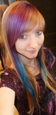 blue purple hair