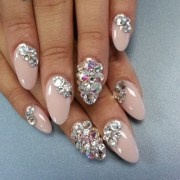 beautiful blinged nails thenailboss