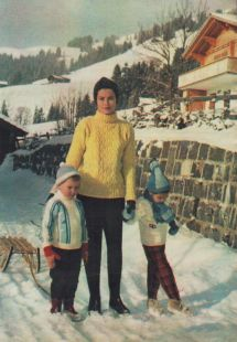 Princess Grace With Kids Albert 4 And Caroline 5