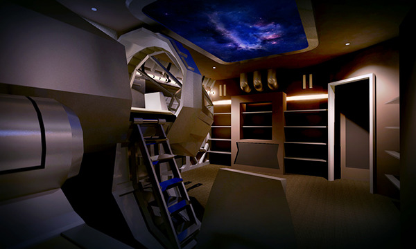 TieFighters  Star Wars Themed Bedroom Designed by Andy Chang