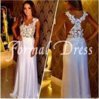long white prom dress | Tumblr