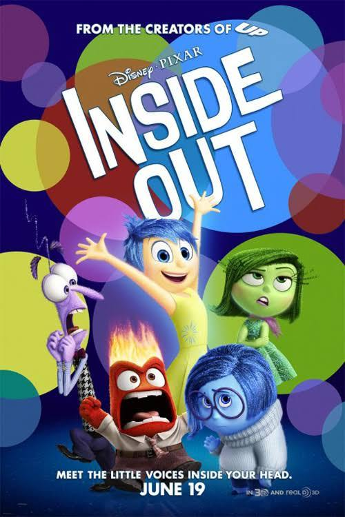 "Inside Out Reviewed by Miranda BoyerFrom the creators of Toy Story, WALL-E, and Monsters, Inc. comes a visual masterpiece filled with magic, emotional sensitivity, asking the deeper question about life in the film Inside Out. When I saw the preview for Inside Out there was no question in my mind that this was going to be epic on colossal scale. Of course the movie did not disappoint. When I was reading about the film, I was intrigued to find out that the creators went to actual doctors to learn about our inner-voices. On average there are 27 in fact and the creators managed to cross reference from multiple lists, narrowing it down to the top five emotions experienced and were able to create a cast of characters from that list. Inside Out is an examination of the life and feelings of a young eleven-year-old girl Riley Anderson. At first we meet Riley and Joy (Amy Peohler). Joy is our tour guide through Riley's mind and headquarters. She enthusiastically tells us how it is ""Just Riley and me forever!"" That is until less then a minute later Sadness (Phyllis Smith) arrives and in short time we meet Anger (Lewis Black), Fear (Bill Hadar), and Disgust (Mindy Kaling). Everything is great, life is good and the first eleven years have been exhilarating in the control center. Personality traits have even surfaced: Goofball Island, Friendship Island, and Family Island all in which attribute to why Riley is Riley. Riley's life is suddenly disrupted when Mom (Diane Lane) and Dad (Kyle MacLachlan) move the family from their Minnesota home to San Francisco. This was one of the most emotionally stirring cartoons I've seen in years, and I really can't wait to see it again. The journey that both Joy and Riley go on will have you rooting till the end. If this doesn't bring a happy tear to your eye, I might question weather or not you're actually a human."