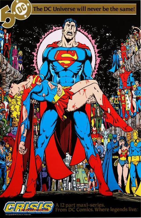 DC comics in the 1980s Crisis on Infinite Earths house ad Featured in