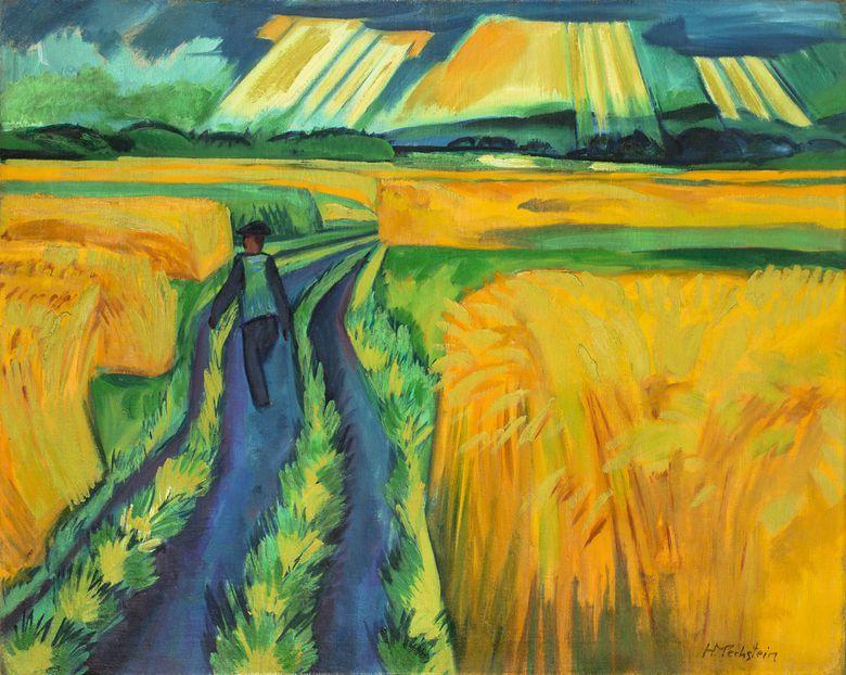 poboh:  Ein Sonntag / On Sunday, 1921, Max Pechstein. Germany (1881 - 1955) - Oil on Canvas -