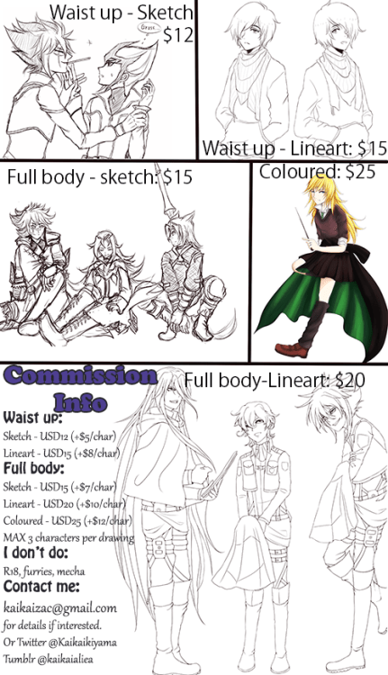 Yuurus • kaikaialiea: COMMISSION OPEN!!! I'm currently in...