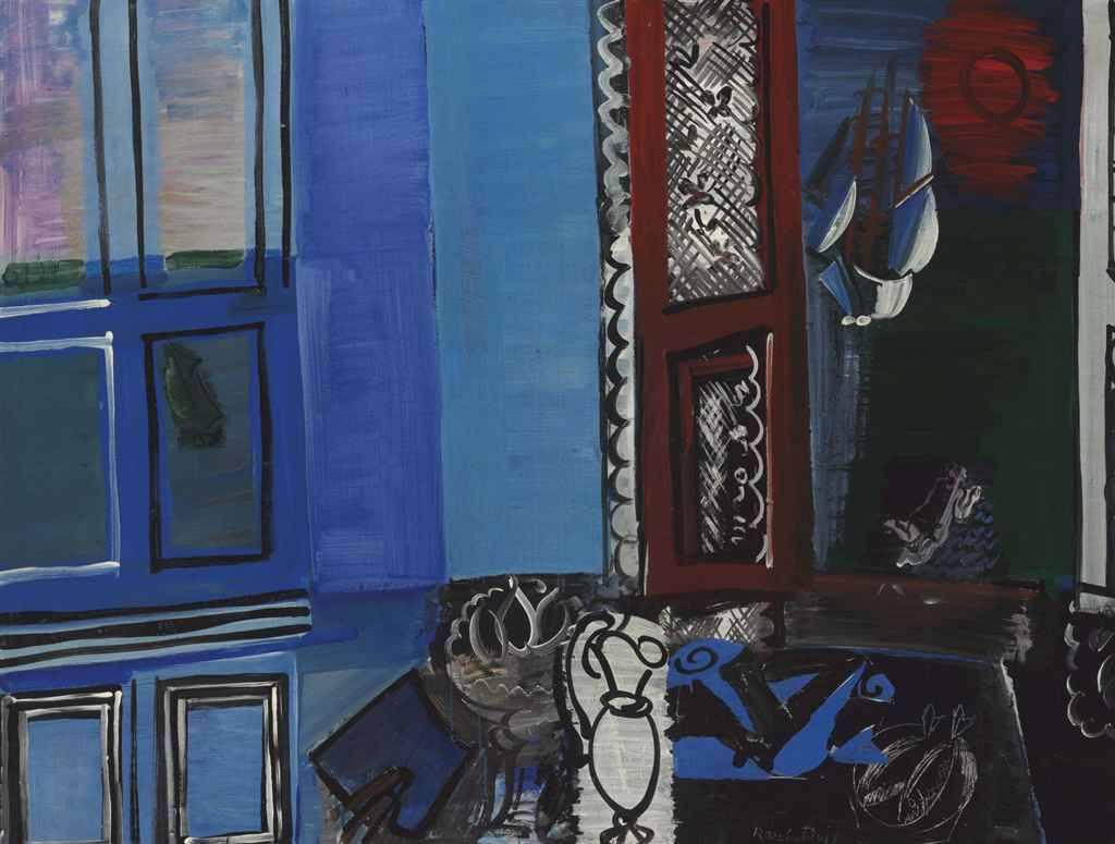 thunderstruck9:Raoul Dufy (French, 1877-1953), L'atelier au bord de la mer [The studio by the sea], 1925. Oil on canvas, 89 x 116cm.