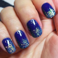 blue nail polish, | Tumblr