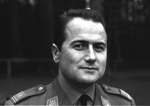 "Joseph ""Sepp"" Blatter's portrait during his service in the Swiss Army, 1966"