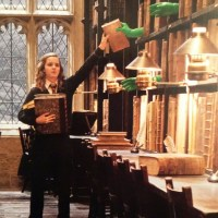Biblioteca de Hogwarts - expectativa e realidade