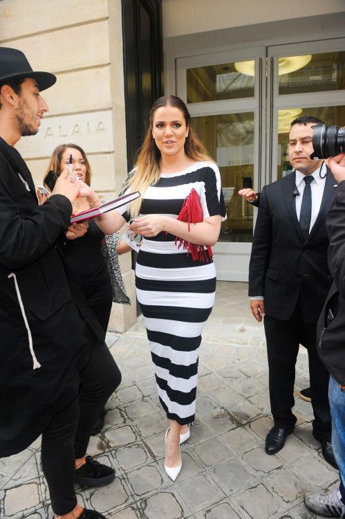 kxrdashjenner: May 21, 2014 - Khloe leaving an 'Alaia' store in Paris.