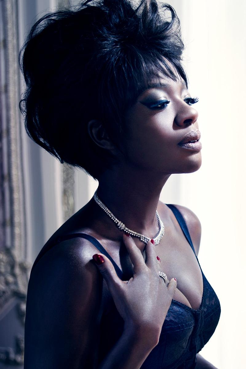 Viola Davis photographed by Mario Sorrenti, W Magazine February 2012