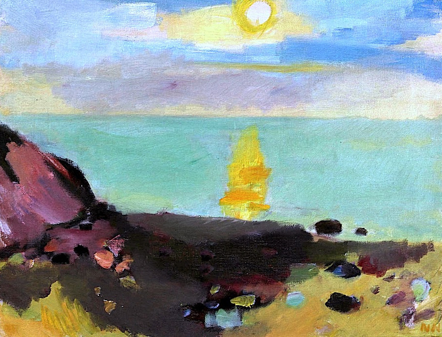 bofransson:  Nils Nilsson (1901-1949) - Coastal motif with Sunrise