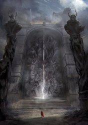 fantasy concept artwork magic sword medieval knight artist sorcery grimmer jordan visual dark gothic landscape darkness portal lord pirate devil