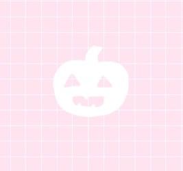 halloween aesthetic pink kawaii cute words spoopy pastel light baby grid text october spooky girly pumpkin typo typography edit sweet