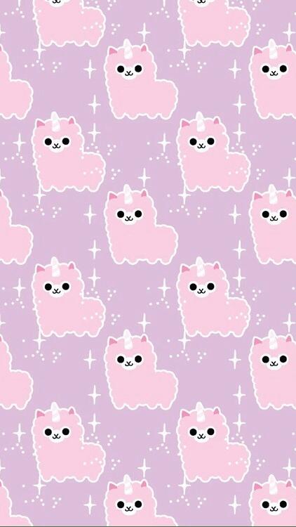 Cute Llamacorn Wallpaper Pastel Iphone Backgrounds Tumblr