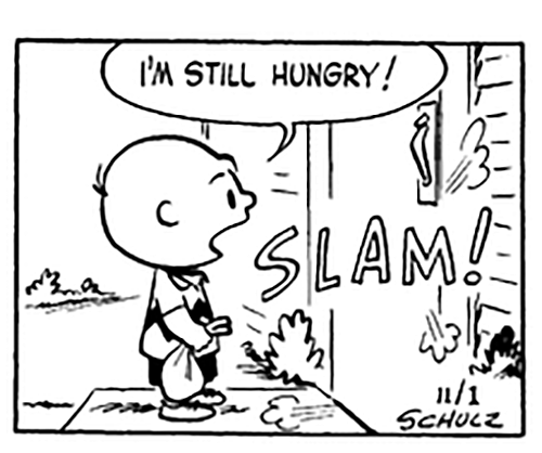 funny vintage Halloween peanuts 1950s comics Charlie Brown