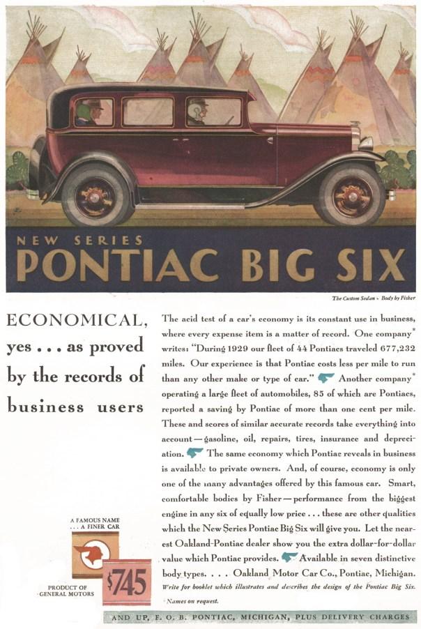 1930 Pontiac Big Six Custom Sedan