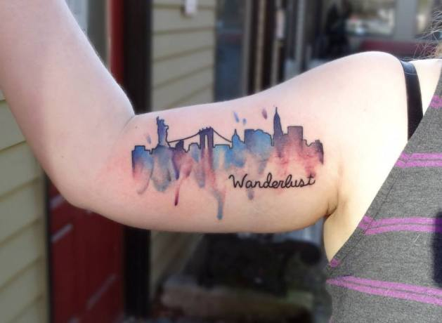Tatuaggio skyline di New York