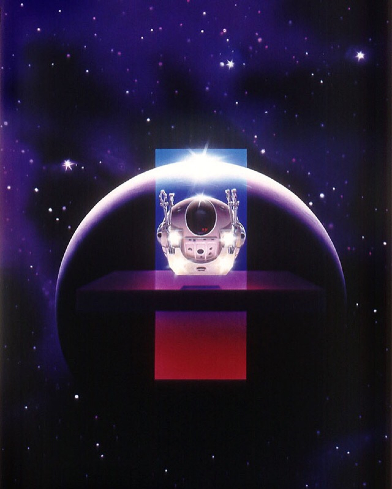 martinlkennedy: 2001 A Space Odyssey by Chris Moore. This painting was for a 2009 reprinting of Arthur C Clarke's classic novel by Orbit Books.
