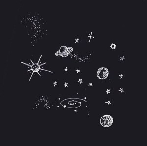drawing solar space aesthetic drawings galaxy simple doodles planets planet background cool doodle universe outer stars system star moon sky