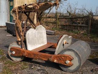 A real-life Flintstones car