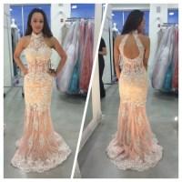 high neck prom dress | Tumblr