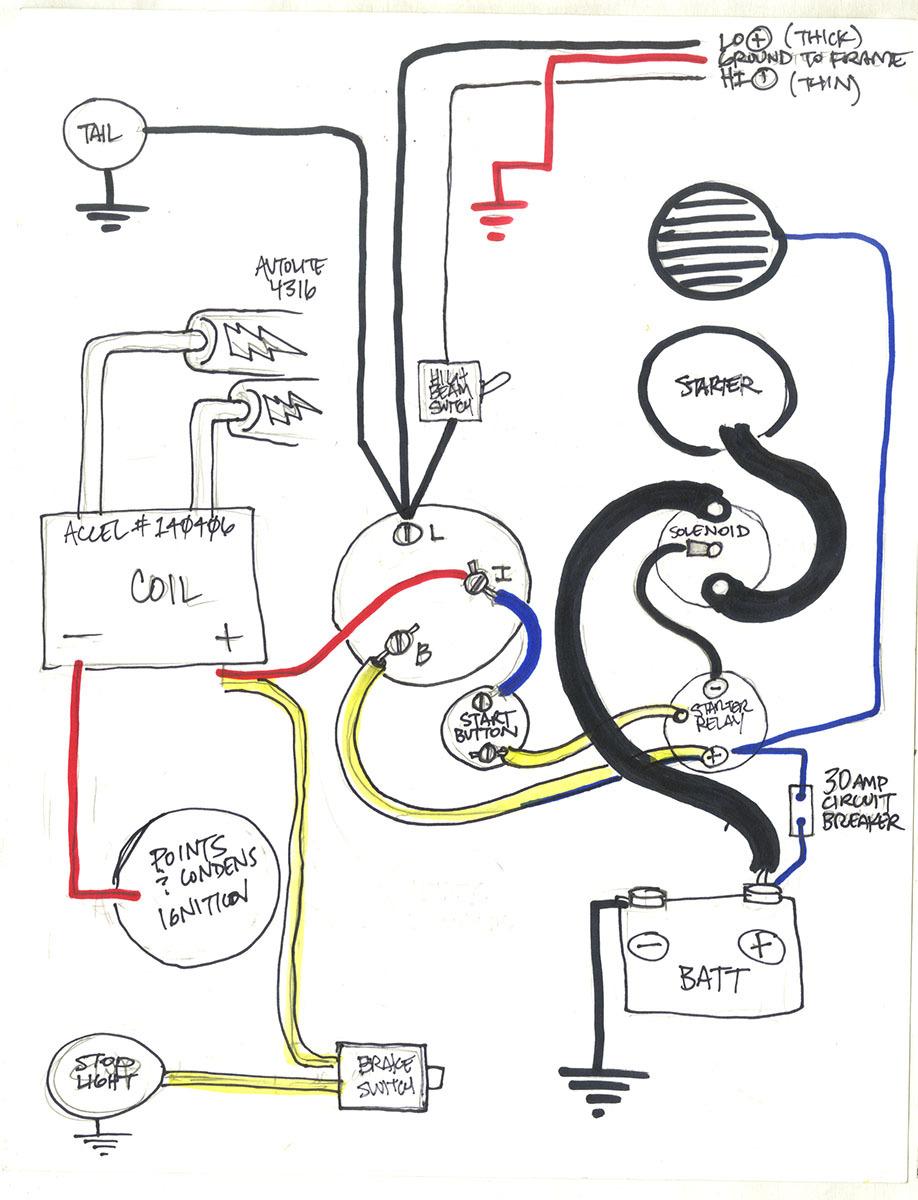Harley Shovelhead Starter Relay Switch Wiring. . Wiring Diagram on
