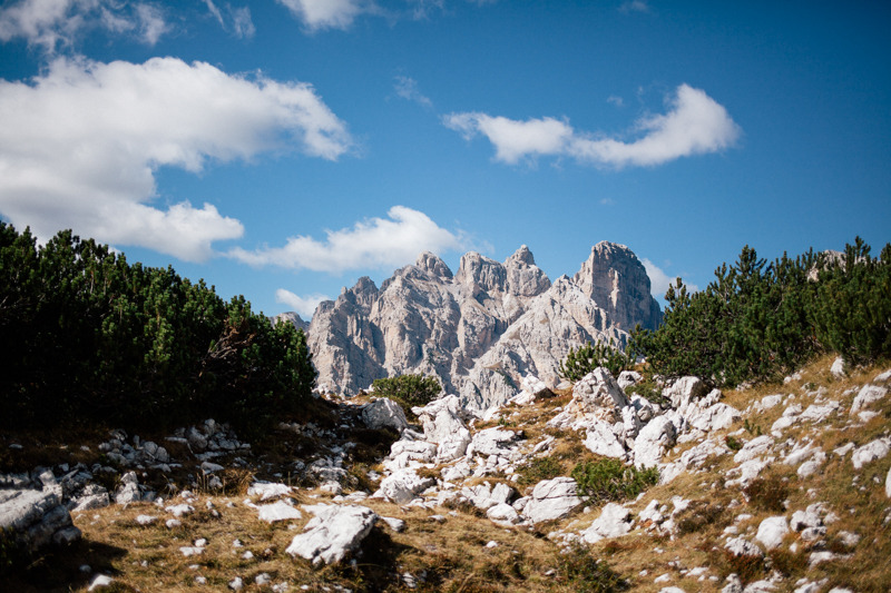 On the top of italy, hiking the mountains of the Tre Cime di Lavaredo in southtyrol.