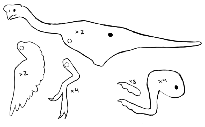 sewing patterns for palaeontologists