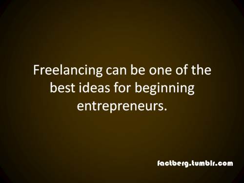 Freelancing is a good idea for entrepreneurs.