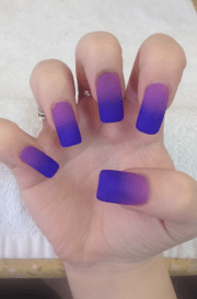 matte purple nail polish