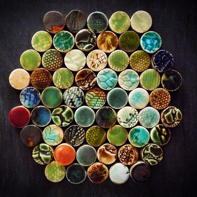 For those that dare to be different: #beautiful mixed textures & glazes penny #round #tiles by #guymitchelldesign You can buy them online at my #etsy #shop (direct link at the top of my profile.) #tile #decor #walltiles #multicolour #circles #mosaic #luxury #luxe #interiordesign #interiors #bespoke #wallcoverings #pattern #texture #ceramic #art #design #original
