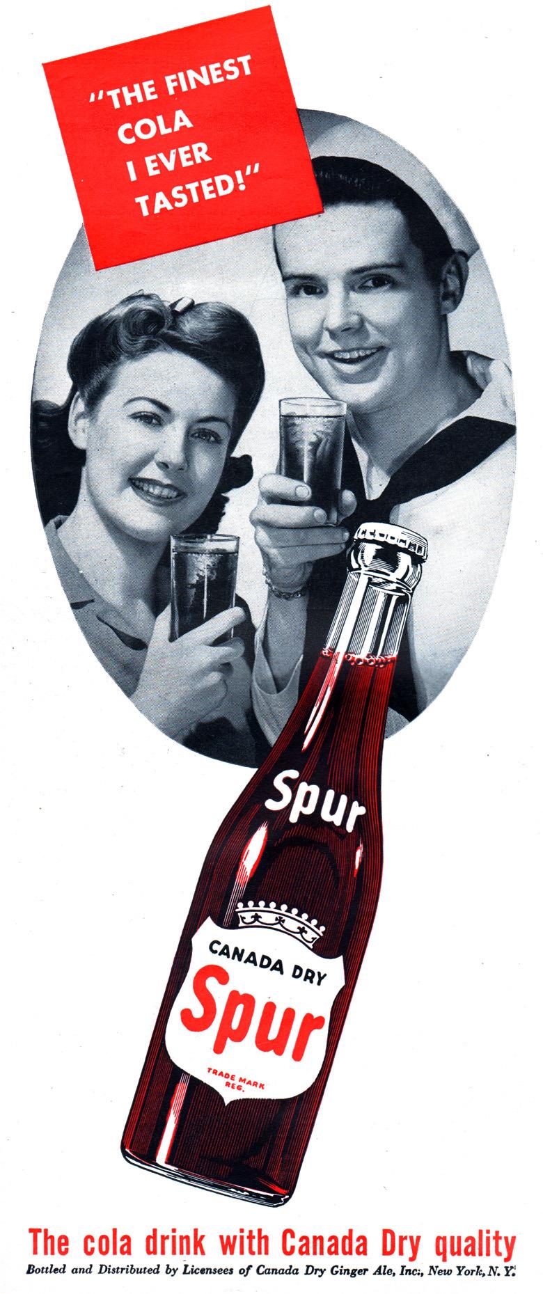 Canada Dry 'Spur' cola - 1943