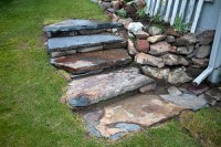 Tyler Knott  These are the backyard steps I built into the...